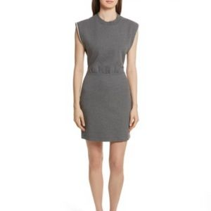 T by Alexander Wang French Terry Open Back Dress